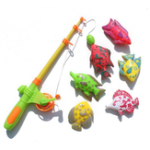 New 7/12Pcs Magnetic Fishing Tools Kit Fishes Vegetable Blocks Toys For Children's Gift Collection