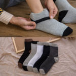 New Men Casual Warm Five Pairs Set Of Middle Tube Socks