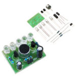 New 3pcs DIY Voice Controlled Melody Light 5MM Highlight DIY LED Flash Electronic Training Kit