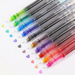 New 10 Colors 0.5mm Gel Pen Colored Pens Creative Capillary Blue Pens Cute Writing Stationery