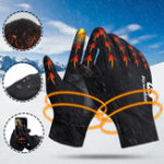 New Unisex Outdoor Sports Cycling Bike Finger Gloves Winter Warm Handschuhe Radfahren