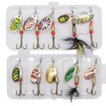 New ZANLURE 10 Pcs Fishing Lure Spinner Bait Japanese Fishing Bait Camping Fishing Hunting Accessories