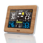 New FanJu FJ3365 Wireless Weather Station Multi-function Digital Clock Temperature Humidity Despertador Moon Phase Desk Table LCD Alarm Clock