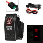 New 12/24V 40A Waterproof Red LED Rocker Switch On/Off Switch+ Relay Fuse Wiring Harness Kit