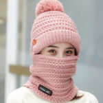New Women Winter Warm Plush Thicken Knit Beanie Hat
