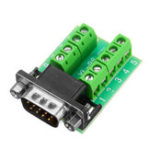 New Male Head RS232 Turn Terminal Serial Port Adapter DB9 Terminal Connector