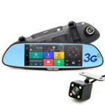 New JUNSUN A730 7 inch Capacitive Touch Screen Car Rear View Camera Mirror Car DVR