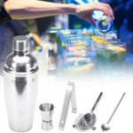 New Stainless Steel Cocktail Shaker Mixer Drink Bartender Martini Tools Bar Set Kit