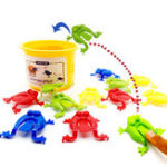 New 13PCS Kids Toys Jumping Game Bouncing Frog Hopper Party Favor Birthday Education