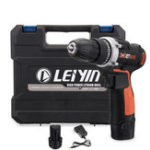 New 12V 15 Torque Electric Cordless Drill LED Lighting Rechargable 1/2 Li-Ion Battery Double Speed Power Drills