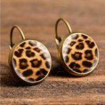 New Retro Leopard Print Ear Drop Earrings