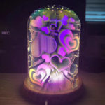 New 3D Night Light Magic Desk Table Lamp with Glass Cover LED USB Atmosphere Light