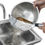 New Stainless Steel Fry Pasta Vegetable Drainer Strainer Dishwasher Safe