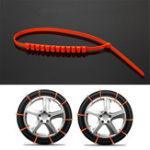 New 10pcs 990mm Winter Anti-skid Snow Tyre Tire Chains Nylon Wheel Chain Belt Set Rain Safety