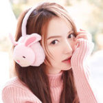New Women Cute Rabbit Pig Pattern Warm Earmuffs Plush Ear Warmer