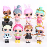 New 8PCS Surprise Doll Hand Doll Cute Girls Gift Collection With Spray Water Function
