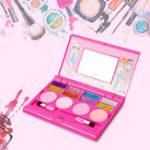 New Princess Makeup Set For Kids Cosmetic Girls Kit Miniature Eyeshadow Lip Gloss Blushes Beauty Decoration Toys