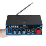 New European Standard 12V 220V BT-638 With Remote Control  Bluetooth Power Car Amplifier