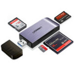 New UGreen CM180 4-In-1 USB 3.0 to SD TF CF MS Memory Card Reader Support Simultaneous Read