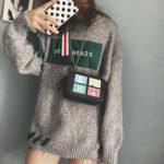 New Women Hip-hop Animal Print Shoulder Bag Crossbody Phone Bag