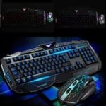 New 104Keys USB LED Light Gaming Keyboard and Optical Mouse Set Kit for Computer PC Gamer
