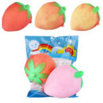 New Temperature Sensing 8cm Strawberry Fruit Squishy Slow Rising Toy Change Color Toy