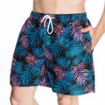 New Mens Drawstring Hawaiian Style Printing Beach Board Shorts