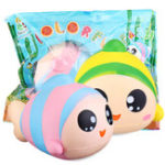 New Sanqi Elan 13cm Rainbow Fish Squishy Slow Rising Toy With Original Packing