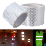 New 5cm X 3m Silver White Reflective Safety Warning Conspicuity Tape Sticker Film