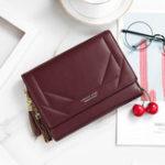 New Women Faux Leather Multifunctional Multi-Slots Crossbody Bag
