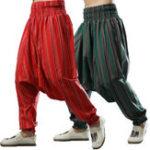 New Vintage Ethnic Chinese Style Yoga Harem Sagging Pants