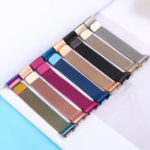 New Colorful Milanese Strap Replacement Stainless Steel Watch Band for Fitbit Charge 3