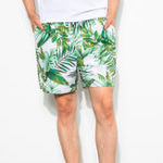 New Mens Summer Printing Beach Elastic Waist Quickly Dry Shorts