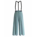 New Vintage Women Wide Leg Detachable Jumpsuit with Pockets