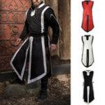 New INCERUN Men Medieval Long Uniform Halloween Cosplay Tops