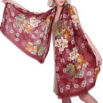 New Women Elegant Ethnic Style Floral Printing Scarf