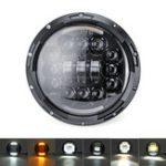 New 7 inch LED Headlights Turn Signal DRL For Harley Lada Niva Jeep Wrangler