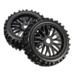 New 2PCS 17mm Tyre Tires Wheel for 1/8 RC Car Off Road Monster Truck Vehicle Parts