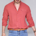 New Mens Loose Cotton Long Sleeve Button down Business Shirts