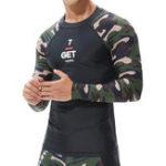 New Men's Swimwear Camouflage Long Sleeve Swimsuit