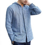 New Mens Vintage Casual Hoodie Tops Thin Coats