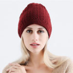 New Women's Hollow Knitted Hat Beanie Scarf Dual-Use Headpiece