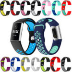 New KALOAD Multiple Colors Soft Silicone Watch Band Wrist Bracelet Strap Replacement For For Fitbit Charge 3