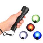New XANES® 1272 XPE LED 3 Modes 360° Rotating Lens Four Color Lights LED Flashlight 18650