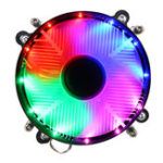 New 12V DC 3Pin CPU Cooling Fan CPU Cooler Coloful LED for Intel LGA 1150/1151/1155/1156/1366