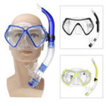 New Diving Mask Scuba Snorkel Goggles Face Glasses With Breath Tube Set For Adult