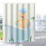 New Cat Waterproof Polyester Bathroom Shower Curtain & 12 Hooks 150x180cm/180x180cm