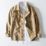 New Mens Pockets Cotton Workwear Cargo Jacket Coat