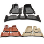 New 3Pcs PU Leather Full-Encased Car Floor Mat Front Rear Liner Waterproof for BMW 3series 2005-2011