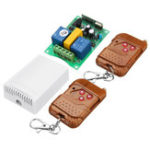 New 433MHz 220V 2 Channel Wireless Remote Control Switch Module Gate Up Down Controller Motor Reverse Learning Code with AK-DJZFZ+AK-TF03 Transmitter